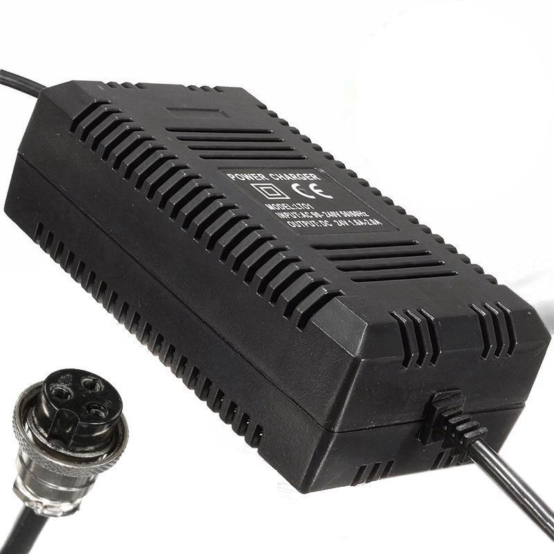 MXPOKWV New Portable Smart Charger 24V Charger Lead Acid Scooter Accessories Scooter Charger Plug 1.8A 24V With EU Plug