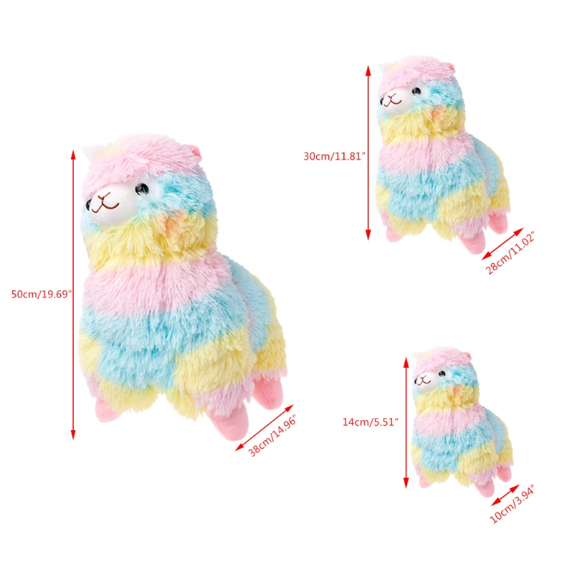 Rainbow Amuse Alpaca Plush font b Toy b font Lama Alpacasso Doll Cotton Stuffed Animal font