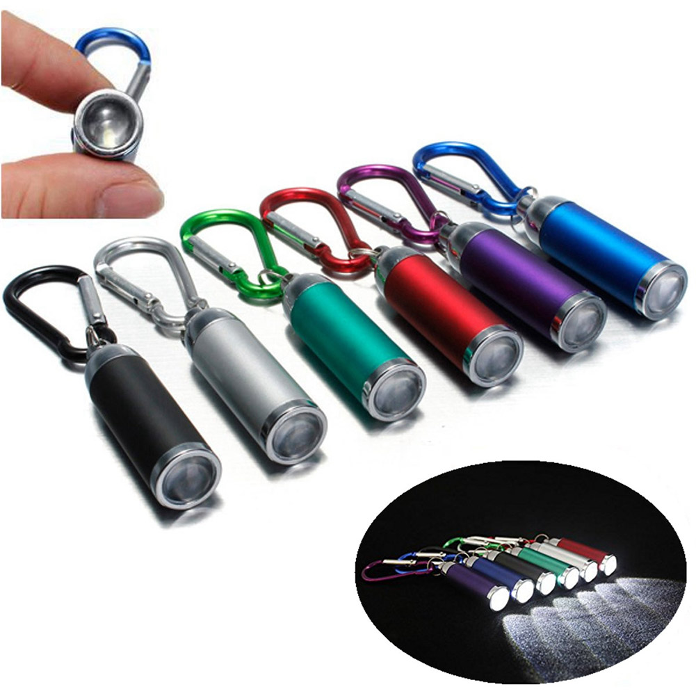 Mini LED Flashlight Torch KeyChain Keyring Key Chain Ultra Bright Portable For Camping Outdoor LL@17