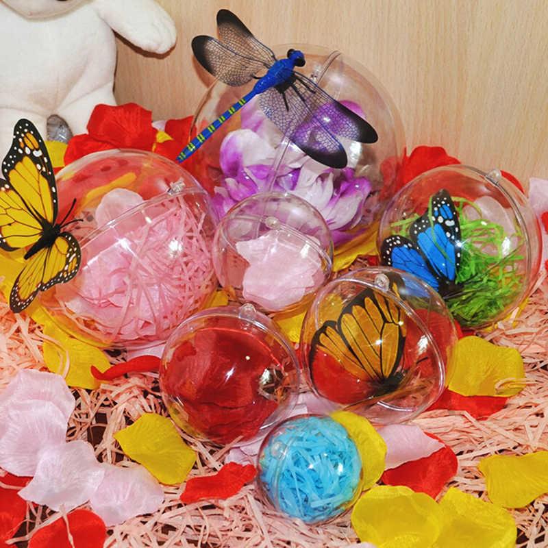 1pc Di Natale Tress Decorazioni Palla Aperto Trasparente di Plastica Trasparente Gingillo Ornamento Regalo Regalo Scatola di Decorazione