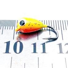 KKWEZVA 6pcs colors fishing lure jig head 2.3g/1.8cm ice fishing jig head hook hard lure bait hooks wobbler for choose tackle
