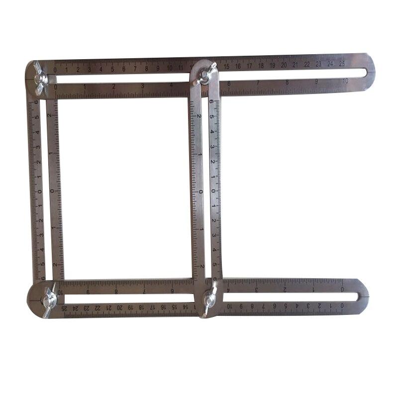 Edelstahl Angleizer Vorlage Werkzeug Misst Alle Winkel und Formen Winkel-izer Winkel Vorlage Werkzeug für Geborene Handwerker Builders P25