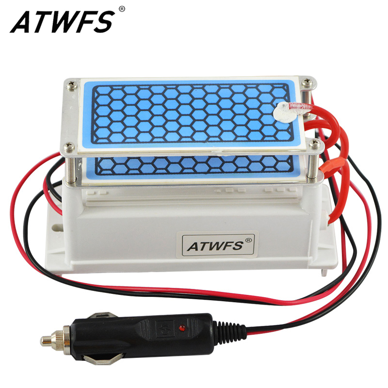 ATWFS Newest DC 12v 10g Car Ozone Generator <font><b>Air</b></font> Purifier Ozonizer Cleaning Ozone Ceramic Plate <font><b>Air</b></font> Sterilizer