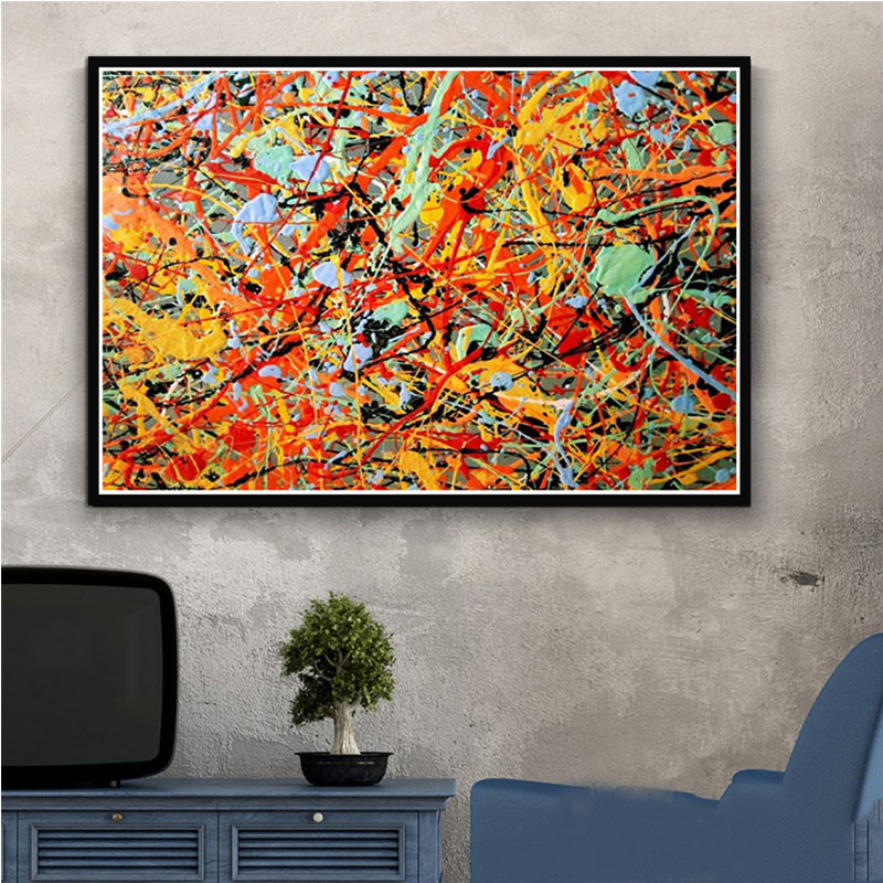 Us 2 99 30 Off Paintings Art Canvas Poster Jackson Pollock Abstract Painting Poster And Prints Canvas Wall Pictures For Living Room Home Decor In