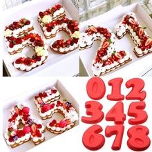 Десерт Силиконовые цифровые формы торт в форме цифр десерт украшение инструмент для свадьбы День рождения Юбилей ручной работы 8A0908