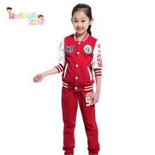 New Brand Children Clothing Set Kids Tracksuit Sports Suit Casual zipper Jacket And Pants Jogging Hot Hale vetement fille
