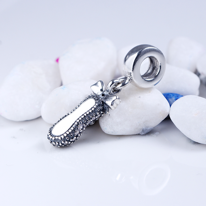 High Quality 925 Sterling Silver Cute Shoes Charm Beads Fit Original Pandora Charms Bracelet Authentic Jewelry DIY Gift