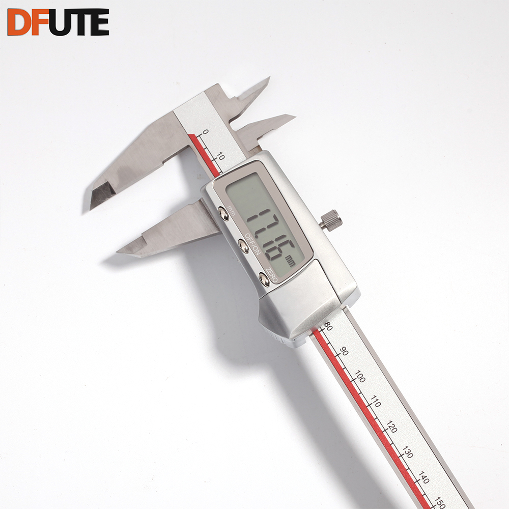 цены DFUTE High Quality 150mm 6inch LCD Digital Electronic Carbon Fiber Vernier Caliper Micrometer Gauge Accuracy 0.02mm
