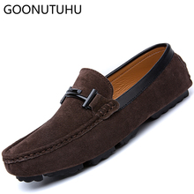 2019 new fashion men's shoes casual leather suede loafers male nice comfortable slip on shoe man big size driving shoes for men roegre spring mens casual loafers shoes men comfortable slip on flat suede leather driving shoes mocassins for man blue grey
