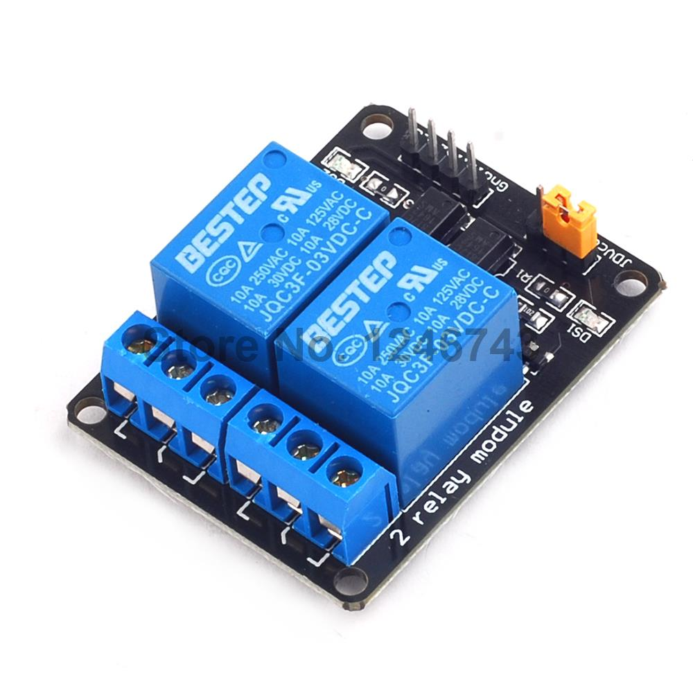 3V 2 Channel Relay Module 3.3V Optocoupler Isolation Module Relay Control Board