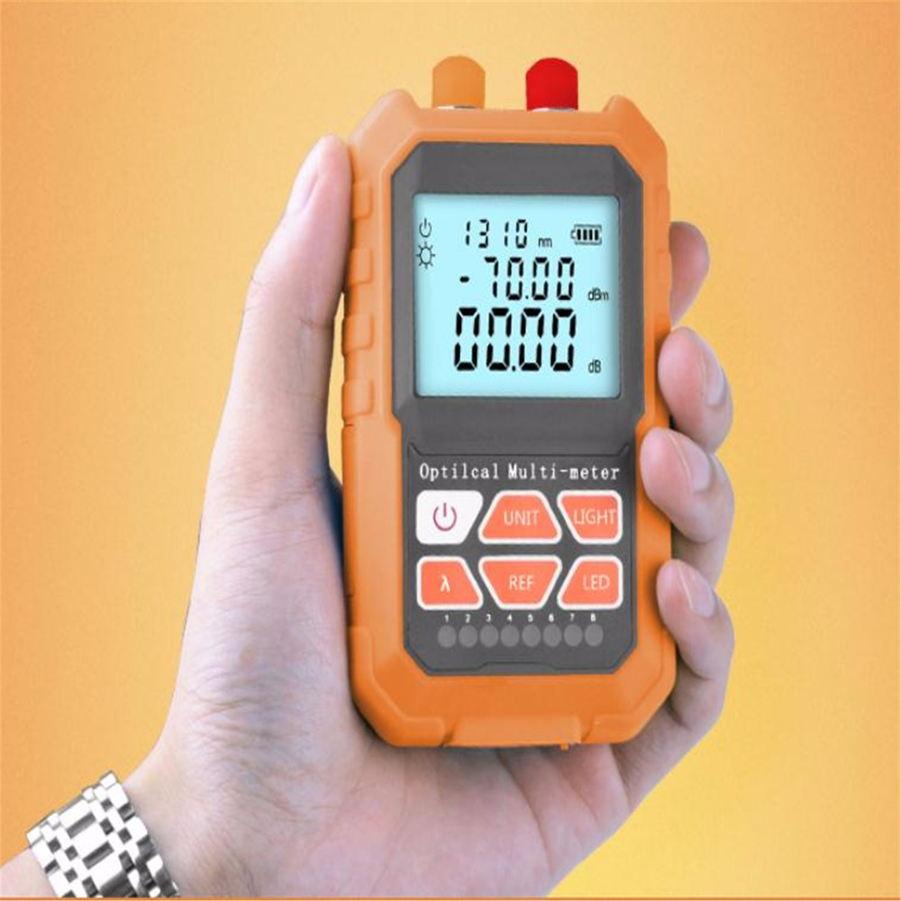 3in1 Optical Power Meter Visual Fault Locator Network Cable Test optical fiber tester 1mw with 5km