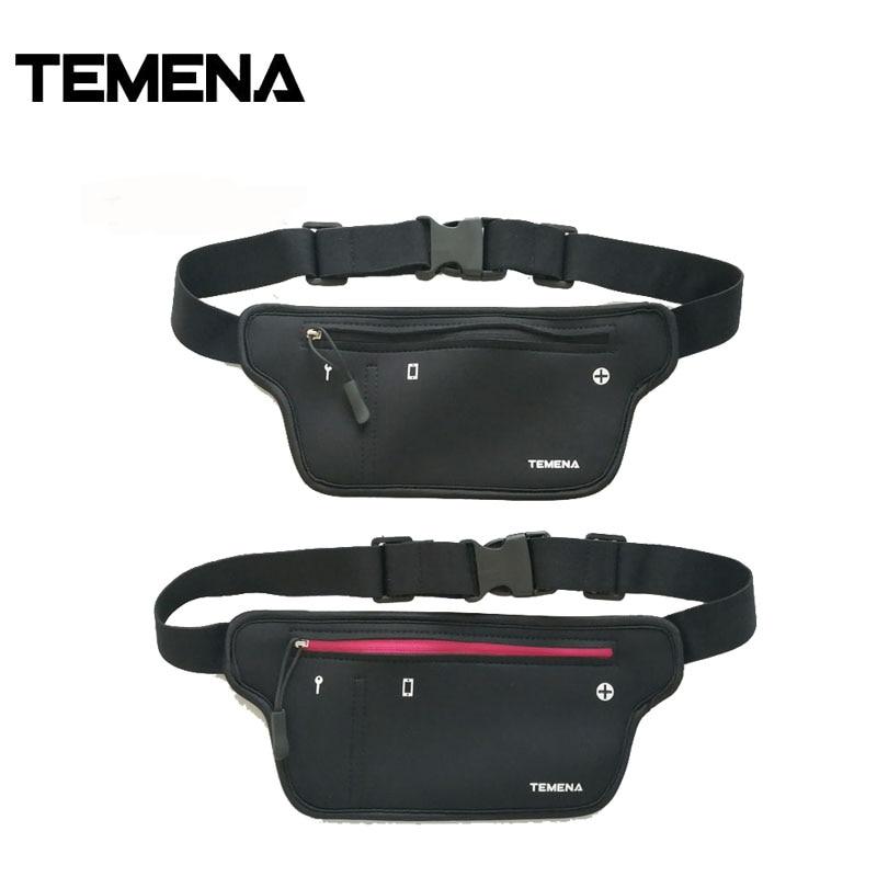 Temena New Fashion Waterproof Small Casual Waist Pack Unisex Waist Bag For Cellphone And Wallet Neoprene Waist Bag AWP532B