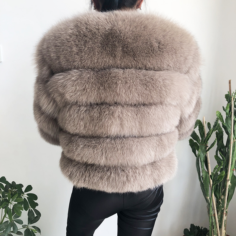 2019 new style real fur coat 100% natural fur jacket female winter warm leather fox fur coat high quality fur vest Free shipping 49