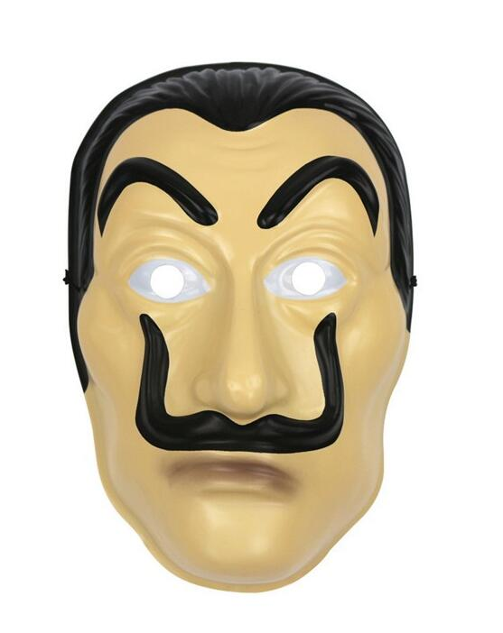 Salvador Dali Movie Costume Money Heist The House of Paper La Casa De Papel Cosplay Halloween PVC Face Mask