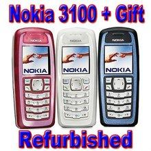 Free Shipping Refurbished Original Nokia 3100 Unlocked Mobile Phone & One Year Warranty