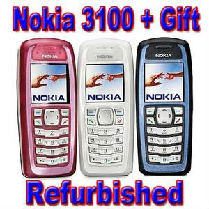 Nokia 3100 Original Unlocked GSM Refurbished Mobile-Phone One-Year-Warranty