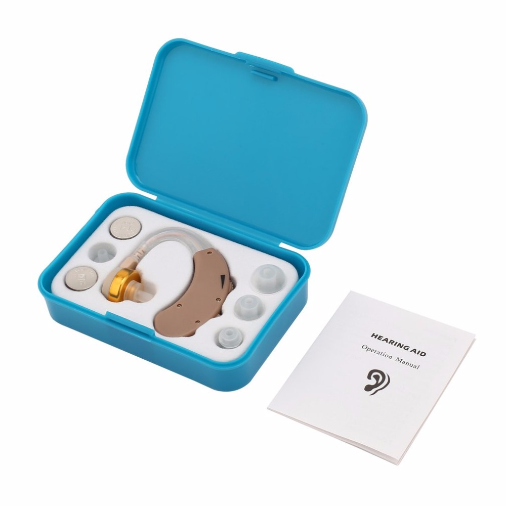 Small Hearing Aid Sound Voice Amplifier Ear Hearing Aid Kit Adjustable Behind Hearing Enhancement Sound Enhancer Ear Care new