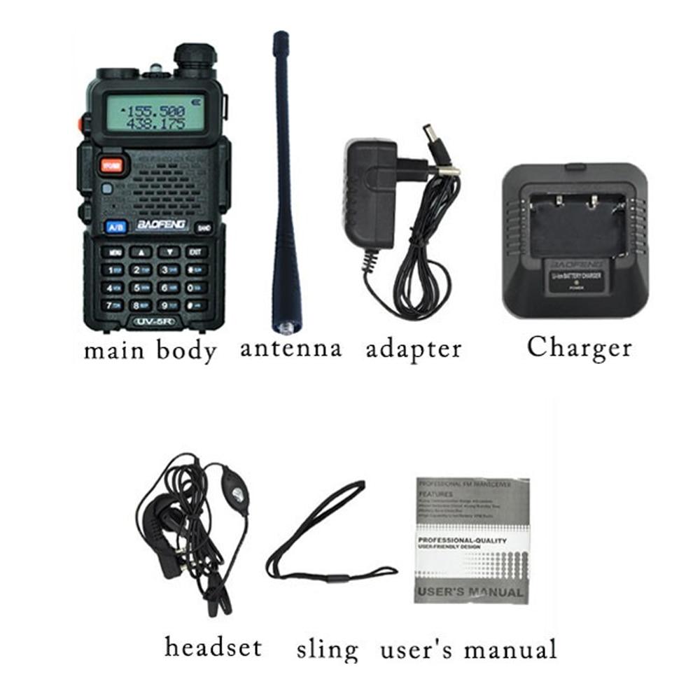 Walkie Talkie Professional CB Radio Station Baofeng UV5R Transceiver 5W VHF  UHF Portable UV 5R Hunting Ham Radio