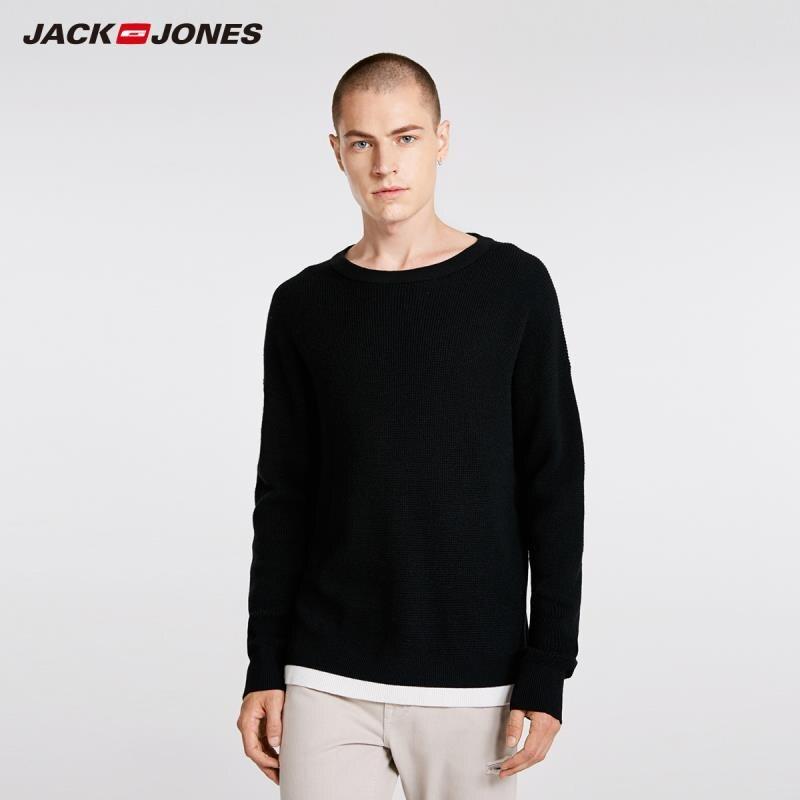 JackJones Autumn Men's Round Neck Soft Wool Sweater 218324536