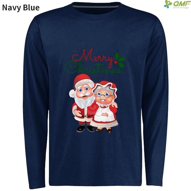 bb399e45292000 Father Christmas Skateboarding T-Shirts Long Sleeve Santa And Mrs. Claus  Sports Clothing Men