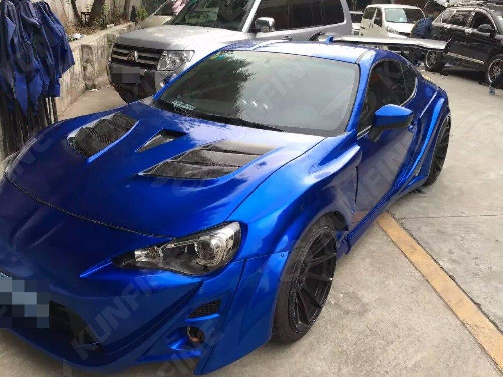 Car Styling Wrap Aurora Bleu Voiture Vinyle film Carrosserie Autocollant D'enveloppe de Voiture Avec Bulle D'air Libre Pour Vehiche Moto 1.52*20 M/Rouleau