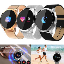 Q8 Color Screen Blood Pressure/Blood Oxygen/Heart Rate Monitor Smart Watch(China)