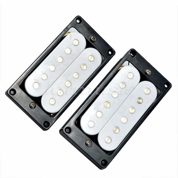 Guitar Pickup Humbucker Bridge Neck Set Black White Double Coil Pickups Electric Guitar Parts Accessories high quality red white copper single magnetic coil noiseless acoustic electric guitar pickup accessories parts magnetic coil