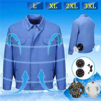 NEW Safety  Conditioning Wind  Fan Suit  2-in1 USB Line Summer Heatstroke Cooling Fan Service Agriculture Busy Workwear