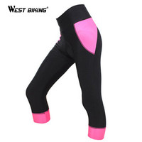 WEST BIKING Cycling Shorts 3D Sponge Padded Wicking Bicicleta Cycling Riding Jersey Ciclismo Ropa MTB Bicycle Shorts For Women