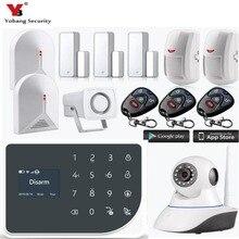 YoBang Security Smart Home Wireless GSM Home Burglar Alarm System Android IOS APP Controls Spanish English