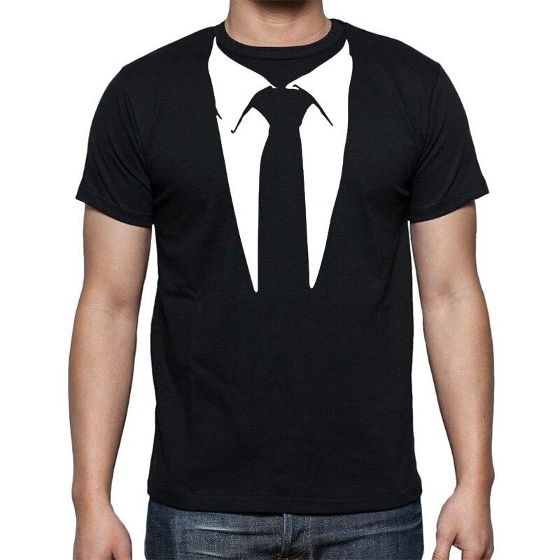 New Novelty Men T Shirts Tuxedo Tees Rets