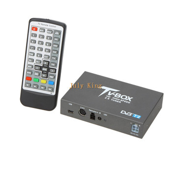 Dual Antenna DVB-T2 Car Digital HD TV Receiver, DVB-T2 Receiver HDMI TV Tuner Support 160KM/H MPEG-1 / -2 / -4, H.264 Decoder 2