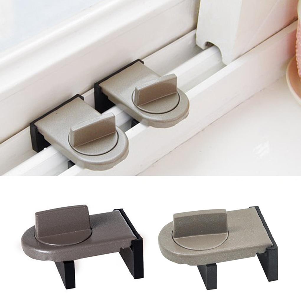 Metal Door Window Security Lock Home Window Restrictor Safety Device Key Lock Child Safe Limit Tool