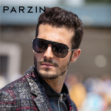 PARZIN Brand Polarized Sunglasses Men Classical Driving Glas