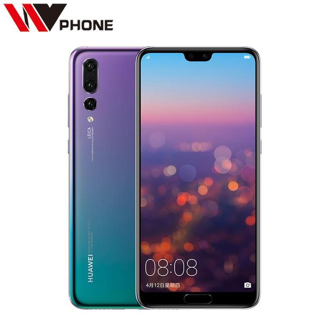 Original Huawei P20 Pro 6G RAM 64G ROM 4G LTE Kirin 970 Octa Core 6.1inch 2240*1080P Three Rear Camera Fingerprint NFC
