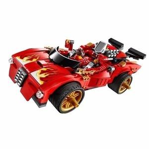 Image 2 - 9796 Ninjagoed Duel Ninjutsu Racing Truck Bricks Toy Ninja Kids Educational Toys For Children Building Bricks