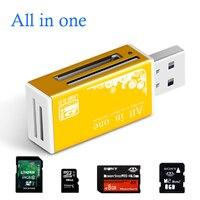 Smart Alle in einem kartenleser Multi in 1 kartenleser SD/SDHC, MMC/RS MMC, TF/MicroSD, MS/MS PRO/MS DUO, M2 kartenleser Großhandel TF