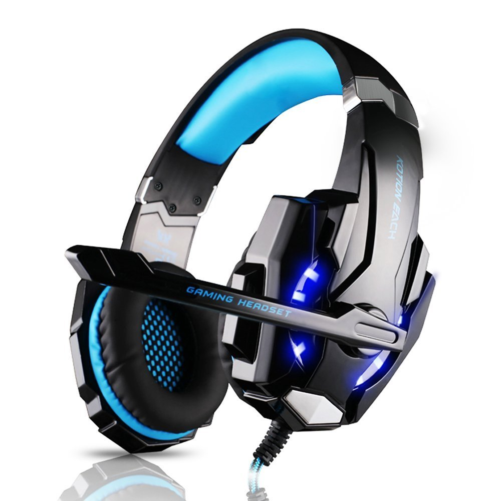 KOTION EACH G9000 3.5mm Game Gaming Headphones Headset Best casque With Mic LED Light For PS4 Computer Laptop Tablet Phone Gamer