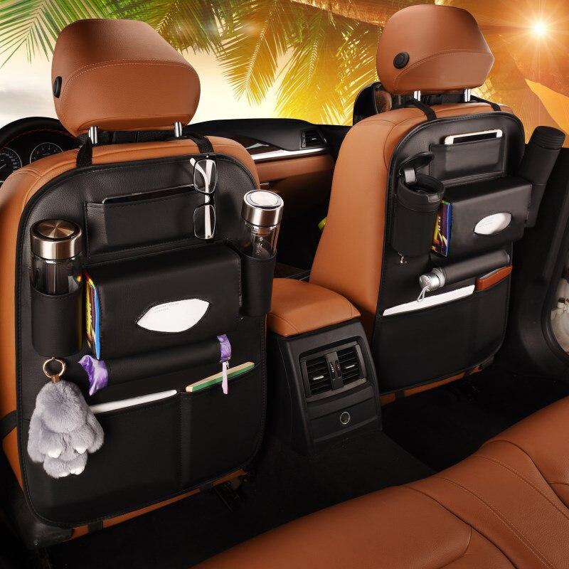 SUPRIQLO Auto Car Back Seat Multi Pockets Storage Organizer Holder Bag Seat Back Organizers