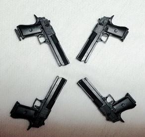 8pcs 16 4D Assemble Gun Pistol Plastic Assemble Model Toy For Solider Action Figure Min Weapon Kits