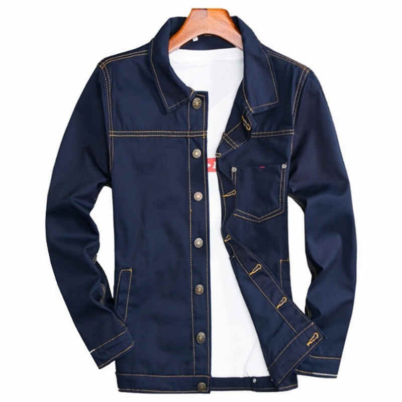 e809aec393b 2018 Men's Denim Jacket high quality fashion Jeans Jackets Slim fit casual  streetwear Vintage Mens jean