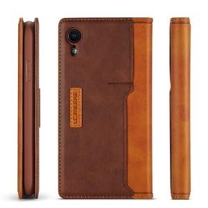 Image 4 - Etui portefeuille magnétique en cuir véritable pour iPhone XR 7 XS Max étuis porte carte pour Coque iPhone X 8 Plus 11 12 Pro