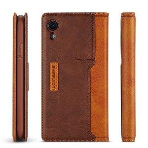 Image 4 - 磁気本革iphone 5 xr 7 xs最大ケースカードホルダーカバーのためcoque iphone × 8プラス11 12プロ