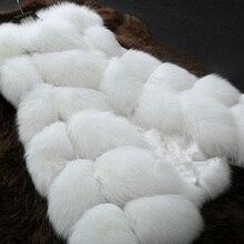 Women's Fur Vest Coat Luxury Faux Fox Warm Women Winter Coats