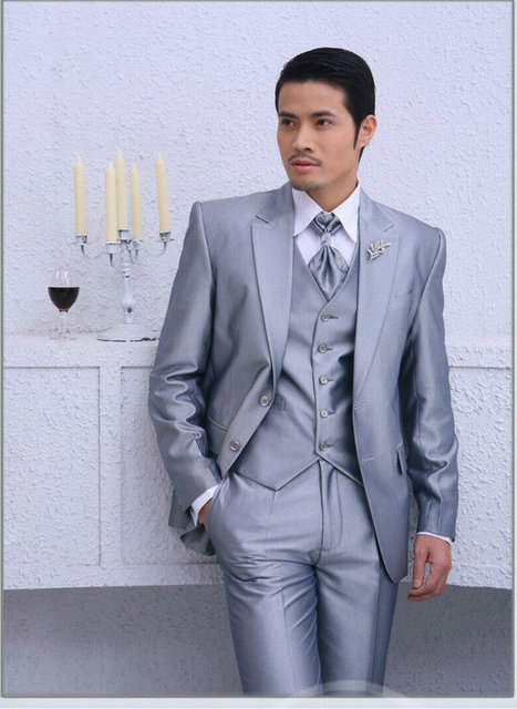 Newest Two Ons Long Sleeve Include Coat Pant Vest Tie Men S Wedding Suit Formal Bridegroom Groom
