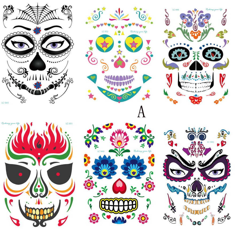 Detail Feedback Questions about Face Tattoo Halloween Temporary ...
