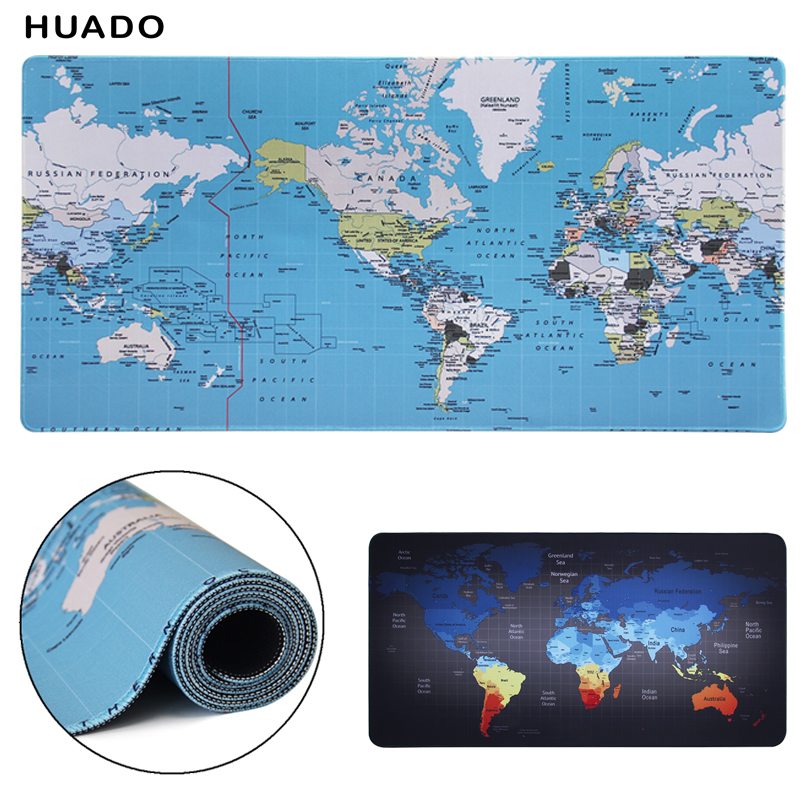 лучшая цена gaming mouse pad xl 900x400/1000x500mm world map large mousepad gamer keyboard mat gaming accessories