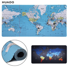 gaming mouse pad xl 900x400/1000x500mm world map large mousepad gamer keyboard mat accessories