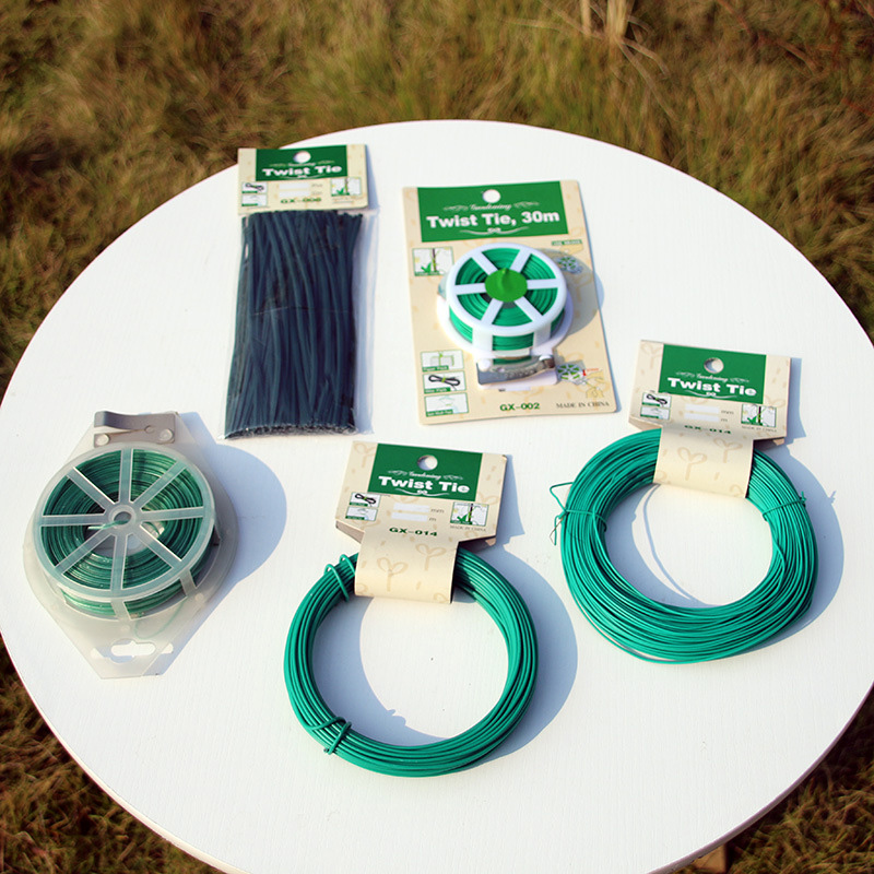 Reusable Garden Coated Twist Wire String Tie Plant Support Plastic Strap Cables Shell Package Fasteners For Home