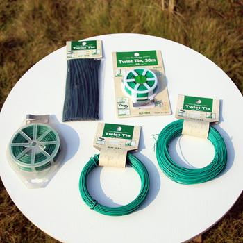 Wielokrotnego użytku ogród Coated Twist drut miedziany łańcuch krawat wsparcie dla roślin pasek z tworzywa sztucznego kable pakiet powłoki elementów złącznych dla domu tanie i dobre opinie Twist Tie